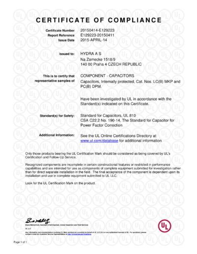 E129223-20150411-CertificateofCompliance-1